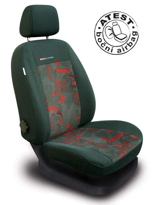 Autopotahy Škoda Octavia I, dělená, červené Vyrobeno v EU
