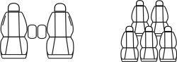 Autopotahy FORD GALAXY I, II, 7 míst, od r. 1994-2006, AUTHENTIC PREMIUM žakar Avio