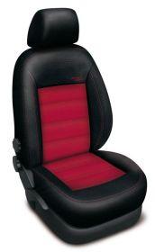 Autopotahy kožené AUDI A6 C6, od r. 2005, AUTHENTIC VELVET, černočervené