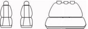 Autopotahy PEUGEOT 206, nedělené opěradlo a sedadlo, od r. 1998, Dynamic žakar tmavý