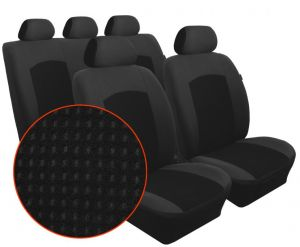 Autopotahy KIA PICANTO, II, od r. 2011, Dynamic velur černý