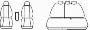 Autopotahy Nissan Qashqai I, bez zadní loketní opěrky, od r. 2006-2010, šedo černé Vyrobeno v EU