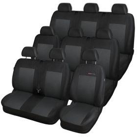 Autopotahy Opel Vivaro II,9 míst, nedělený dvojsedák v 1 řadě (1+2+3+3), od r.2014, černé