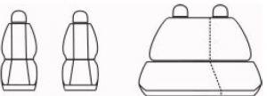 Autopotahy Seat Cordoba II, od r. 2002-2011, antracit Vyrobeno v EU
