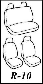 Autopotahy Škoda Fabia I, kožené Tuning černomodré, nedělené zadní sedadla Vyrobeno v EU