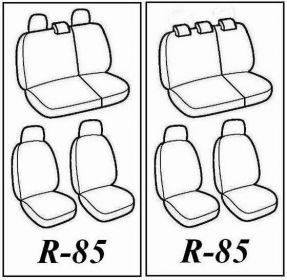 Autopotahy Škoda Fabia II, kožené Tuning černozelené, dělené zadní sedadla
