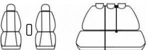 Autopotahy Volkswagen Tiguan, od r. 2007, Eco kůže + alcantara šedé Vyrobeno v EU