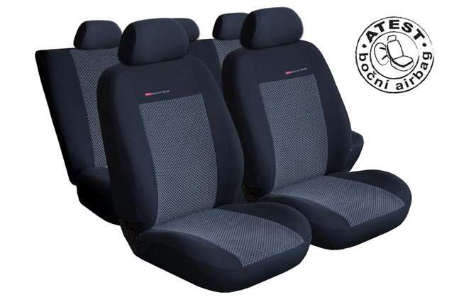 Autopotahy Fiat Fiorino III, Cargo od r.2008, 2 místa, LUX STYLE šedo černé Vyrobeno v EU