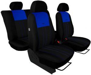 Autopotahy VOLKSWAGEN POLO V, dělená zadní sedadla, od r. v.2009, DUO TUNING modro černé