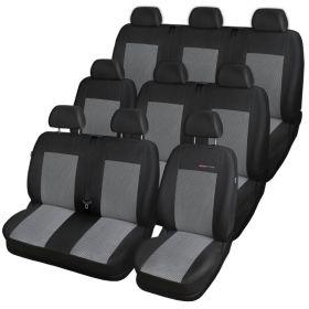 Autopotahy Ford Transit CUSTOM, 9 míst, od r. 2012, šedo černé