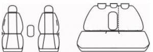 Autopotahy Hyundai Elantra V, od r. 2010-2015, černé