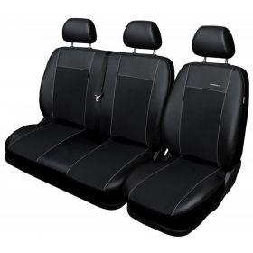 Autopotahy Volkswagen T6, 1+2, 3 místný, od r. 2015, Eco kůže + alcantara černé