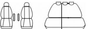 Autopotahy Citroen Berlingo II, od r. 2008, černé Vyrobeno v EU