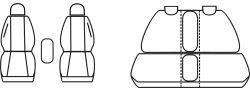 Autopotahy OPEL MERIVA II B, od r. 2010, Dynamic šedé
