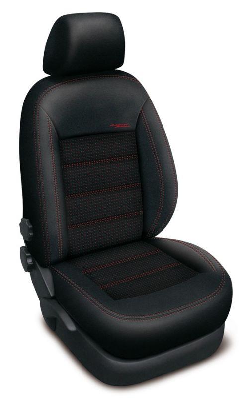 Autopotahy ISUZU D-MAX DOUBLE CAB, od r. 2014, AUTHENTIC DOBLO, žakar červený