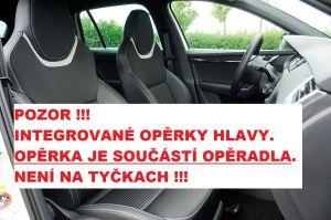 Autopotahy ŠKODA OCTAVIA III, integrované přední op. hlavy, DUO červeno šedé