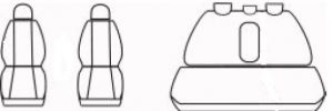 Autopotahy FORD RANGER, od r. 2014, AUTHENTIC DOBLO matrix béžový