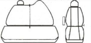 Autopotahy Renault Master, IV, 3 místa, dělené dvojopěradlo, od r. 2010, šedo černé Vyrobeno v EU