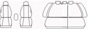 Autopotahy Škoda Octavia II, dělená, bez zadní loketní opěrky, modré Vyrobeno v EU