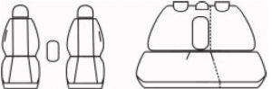 Autopotahy Honda Civic VIII, 5 dveř, od r. 2006-2011, antracit Vyrobeno v EU