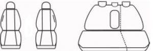 Autopotahy Honda CRV II, od r. 2001-2007, černé Vyrobeno v EU