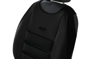 Ergonomický potah na 1 sedadlo ERGONOMIC LEATHER, černý