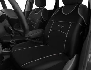 Autopotahy Autopotahy TUNING EXTREME KOŽENÉ, sada pro dvě sedadla, černé