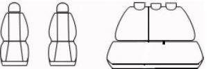 Autopotahy OPEL CORSA D, od r. 2006-2014, dělené opěradlo, Dynamic žakar tmavý