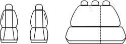Autopotahy Seat Leon I, od r. 1999-2005, šedo černé Vyrobeno v EU