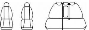 Autopotahy Seat Altea, od r. 2004, šedo černá Vyrobeno v EU