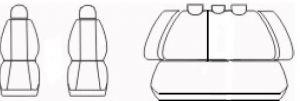 Autopotahy Honda Civic VII sedan, od r. 2000-2006, černé Vyrobeno v EU