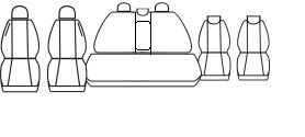 Autopotahy Opel Zafira B, 7 míst, od r.2005, černé