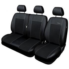 Autopotahy Volkswagen LT, 3 místný, do r. 2006, Eco kůže + alcantara černé Vyrobeno v EU