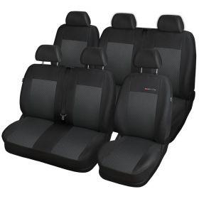Autopotahy Volkswagen T5, 6 míst, 1+2+3 od r. 2003, černé Vyrobeno v EU