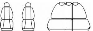 Autopotahy Fiat Punto II od r.1999 a Punto II FL od r.2003, antracit Vyrobeno v EU
