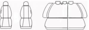 Autopotahy Kia Ceed I, od r. 2006 do 2012, antracit Vyrobeno v EU