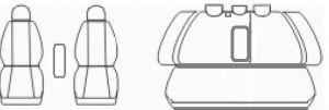 Autopotahy Volkswagen Golf VI, děl. zadní opěradlo, zadní lok. opěrka, od r.2008, antracit Vyrobeno v EU