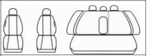 Autopotahy Volkswagen Golf V, s loketní opěrkou, od r 2003-2009, antracit Vyrobeno v EU