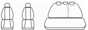 Autopotahy Volkswagen Golf VI, dělené zadní opěradlo, od r. 2008-2012, ROYAL-1