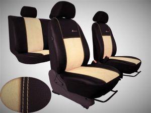 Autopotahy Citroen C4 PICASSO I, od r. 2004-2010, 5 míst,kožené s alcant. EXCLUSIVE béžové