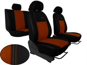 Autopotahy Citroen C4 PICASSO I, od r. 2004-2010, 5 míst,kožené s alcant. EXCLUSIVE hnědé