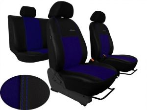 Autopotahy Citroen C4 PICASSO I, od r. 2004-2010, 5 míst,kožené s alcant. EXCLUSIVE modré Vyrobeno v EU