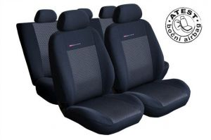 Autopotahy Škoda LUX STYLE černočerné Roomster 5.míst Vyrobeno v EU