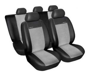 Autopotahy Seat Leon I, od r. 1999-2005, Eco kůže + alcantara šedé