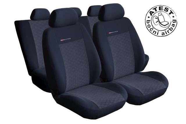 Autopotahy Škoda Fabia I, dělená, 5 opěrek hlavy,boční airbag, antracit LUX STYLE Vyrobeno v EU
