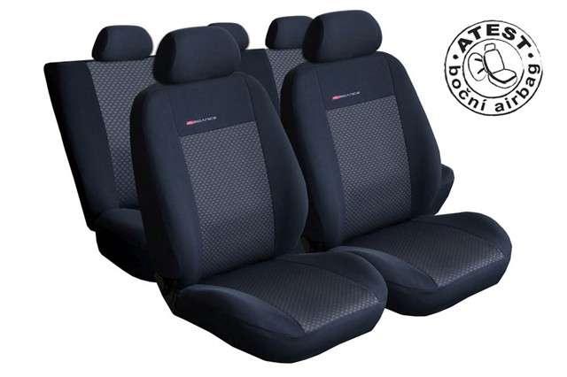 Autopotahy Škoda Fabia I, dělená, 5 opěrek hlavy,boční airbag,černé LUX STYLE Vyrobeno v EU