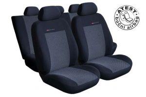 Autopotahy Škoda Fabia II, dělená,5 opěrek hlavy,boční airbag,šedo černé LUX STYLE