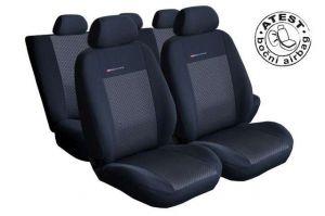 Autopotahy Volkswagen Sharan II, od r. 2010, 5.míst, dětská sedačka,černé LUX STYLE