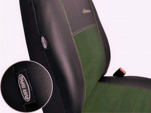 Autopotahy Citroen C4 PICASSO I, od r. 2004-2010, 5 míst,kožené s alcant. EXCLUSIVE zelené Vyrobeno v EU