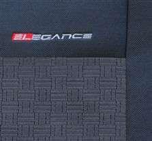 Autopotahy Peugeot Partner II 2+1, šité na míru od r. 2008, antracit LUX STYLE Vyrobeno v EU
